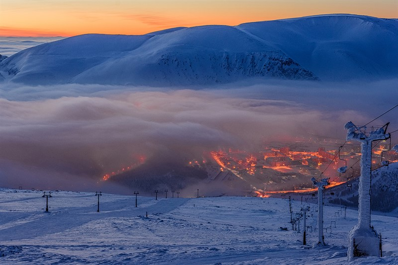 Tour to Khibiny mountains winter